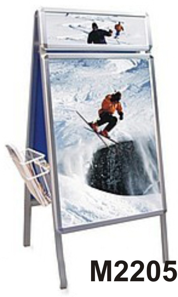 Rolling poster board